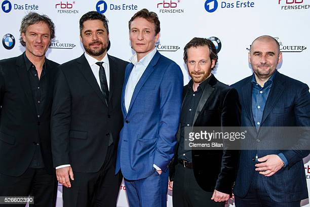 Christoph Mueller David Wnendt Oliver Masucci Fabian Busch and Lars Dittrich attend the nominee dinner for the German Film Award 2015 Lola on April...