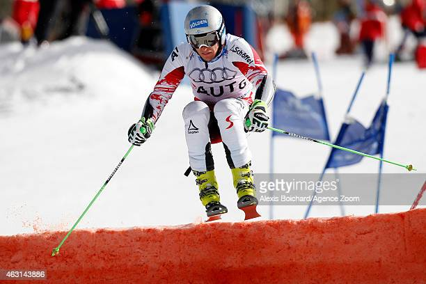 Christoph Noesig of Team Austria wins a gold medal during the FIS Alpine World Ski Championships Nations Team Event on February 10 2015 in...