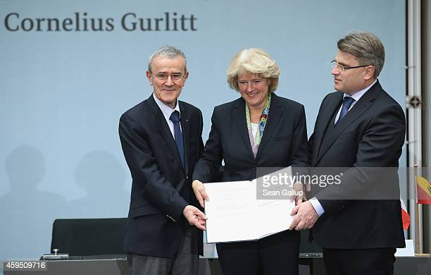 Christoph Schaeublin President of the Foundation Council of the Kunstmuseum Bern art museum Monika Gruetters German State Culture Minister and...
