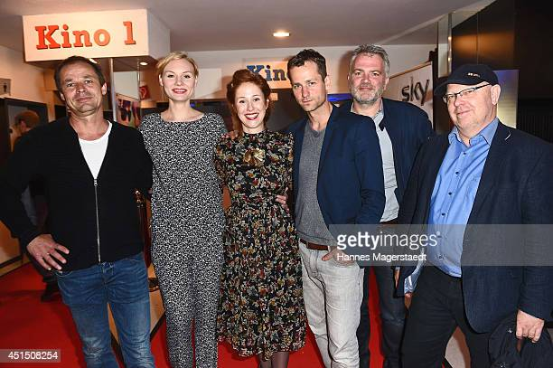 Christoph Stark, Rosalie Thomass, Marlene Morreis, Florian Stetter and cast members attend the 'Die Frau aus dem Moor' Premiere as part of Filmfest...