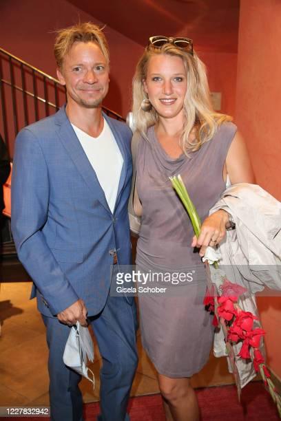 Christoph von Friedl and his wife Eva Maria Grein von Friedl during the premiere of the theatre play Schwiegermutter und andere Bosheiten at Komoedie...