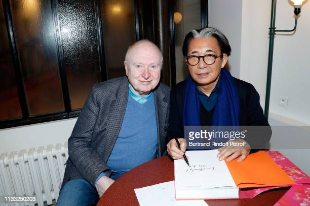 Christoph von Weyhe and Kenzo Takada attend the Kenzo Takada Book Signing during 'Azzedine Alaia Collectioneur Adrian et Alaia L'art du tailleur'...