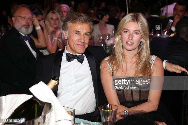 Christoph Waltz and Camille Charriere attend the amfAR Gala Cannes 2017 at Hotel du CapEdenRoc on May 25 2017 in Cap d'Antibes France