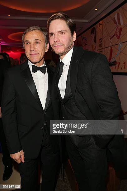 Christoph Waltz and Daniel Bruehl during the European Film Awards 2015 afterparty at hotel Sofitel on December 12, 2015 in Berlin, Germany.