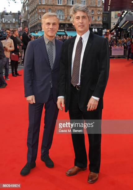 Christoph Waltz and director Alexander Payne attend the BFI Patron's Gala UK Premiere of 'Downsizing' during the 61st BFI London Film Festival on...