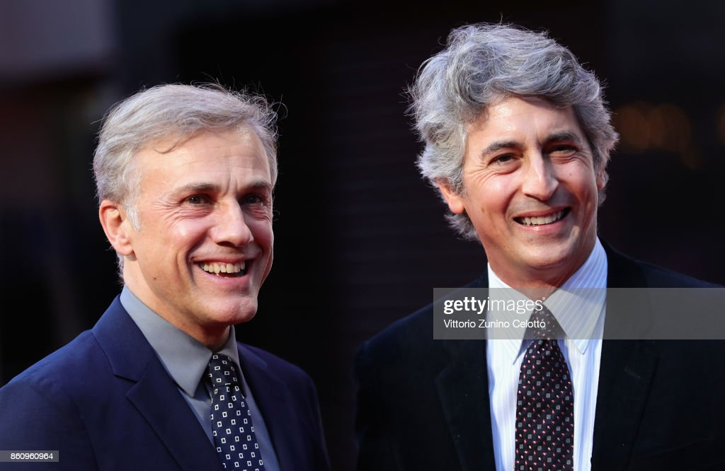 Christoph Waltz and director Alexander Payne attend the BFI Patron's Gala and UK Premiere of 'Downsizing' during the 61st BFI London Film Festival at the Odeon Leicester Square on October 13, 2017 in London, England.