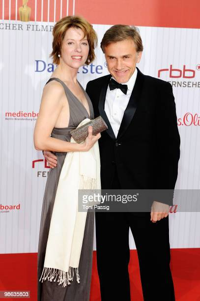 Christoph Waltz and his wife Judith Waltz attend the 'German film award 2010' at Friedrichstadtpalast on April 23, 2010 in Berlin, Germany.