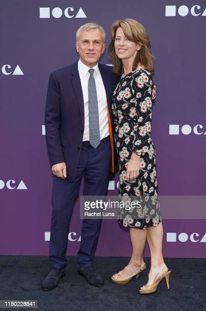 Christoph Waltz and Judith Holste attend the MOCA Benefit 2019 at The Geffen Contemporary at MOCA on May 18 2019 in Los Angeles California