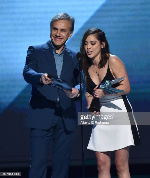 Christoph Waltz and Rosa Salazar attend The 2018 Game Awards at Microsoft Theater on December 06, 2018 in Los Angeles, California.