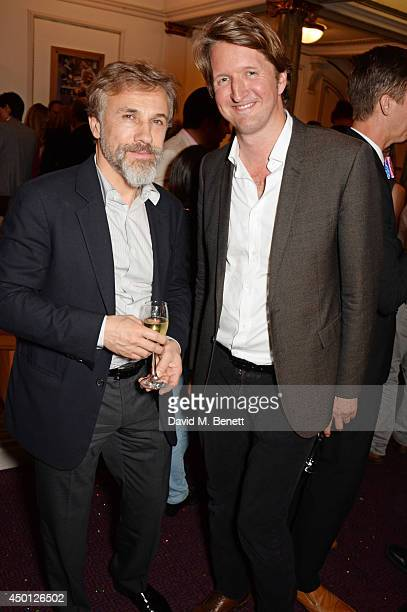 Christoph Waltz and Tom Hooper attends an after party celebrating the press night performance of Benvenuto Cellini directed by Terry Gilliam for the...