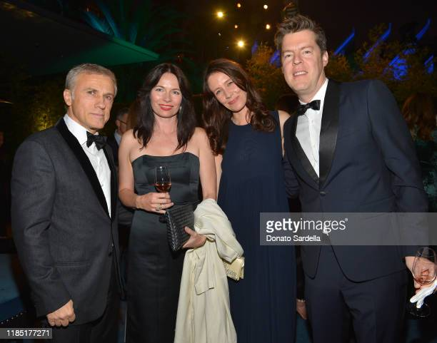 Christoph Waltz April Street Nana Bahlmann and Philipp Kaiser attend the 2019 LACMA Art Film Gala Presented By Gucci at LACMA on November 02 2019 in...