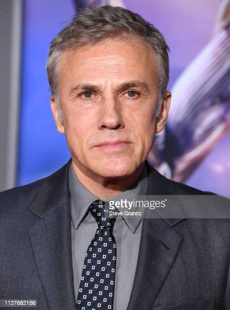 Christoph Waltz arrives at the Premiere Of 20th Century Fox's Alita Battle Angel at Westwood Regency Theater on February 05 2019 in Los Angeles...