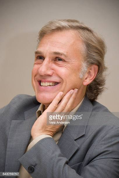 Christoph Waltz at 'The Legend of Tarzan' Press Conference at the Beverly Hilton Hotel on June 26 2016 in Beverly Hills California