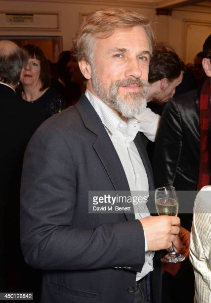 Christoph Waltz attends an after party celebrating the press night performance of Benvenuto Cellini directed by Terry Gilliam for the English...