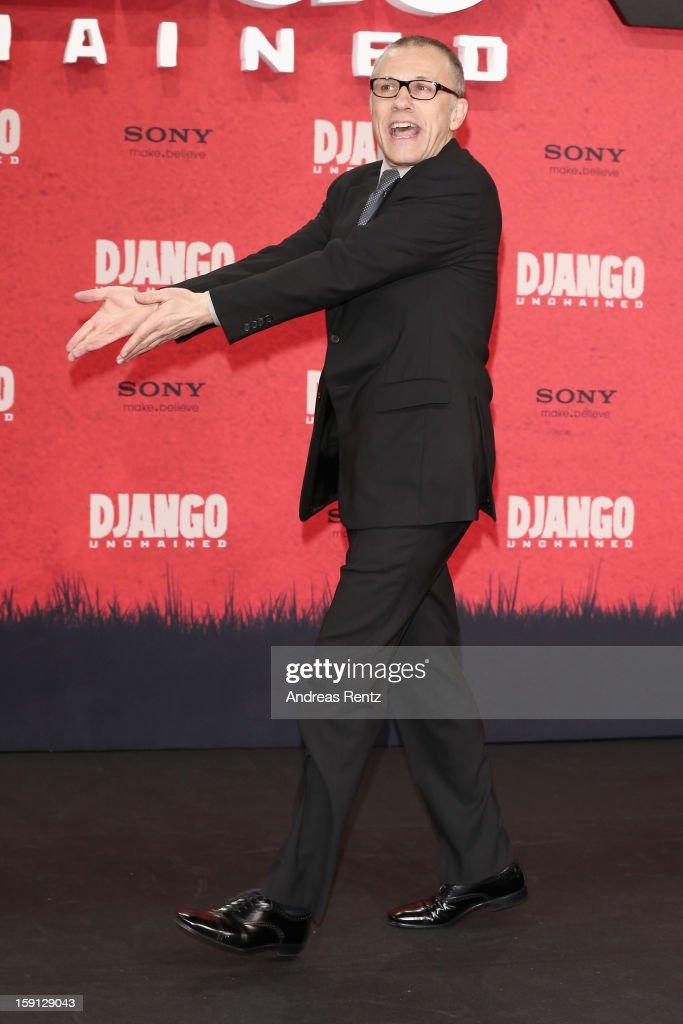 Christoph Waltz attends 'Django Unchained' Berlin Premiere at Cinestar Potsdamer Platz on January 8, 2013 in Berlin, Germany.