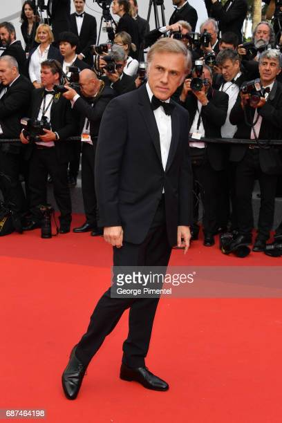 Christoph Waltz attends the 70th Anniversary screening during the 70th annual Cannes Film Festival at Palais des Festivals on May 23 2017 in Cannes...