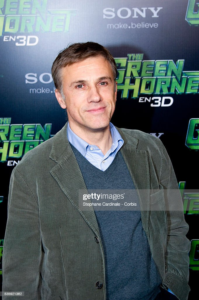 Christoph Waltz attends the photocall for the Michel Gondry film 'The Green Hornet', in Paris.