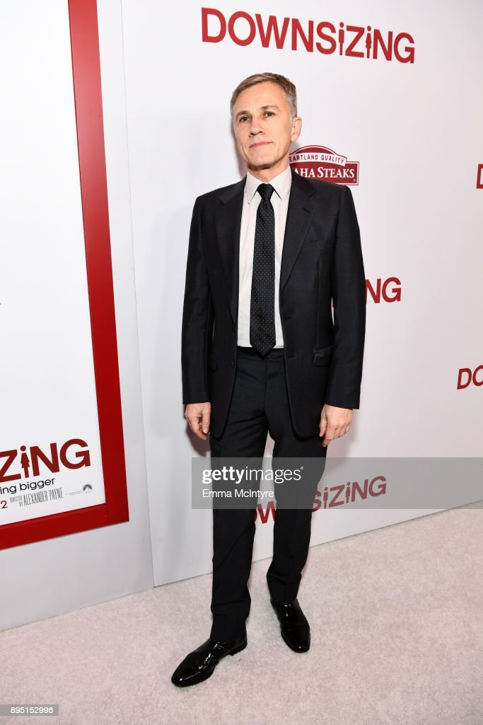 Christoph Waltz attends the premiere of Paramount Pictures' 'Downsizing' at Regency Village Theatre on December 18, 2017 in Westwood, California.