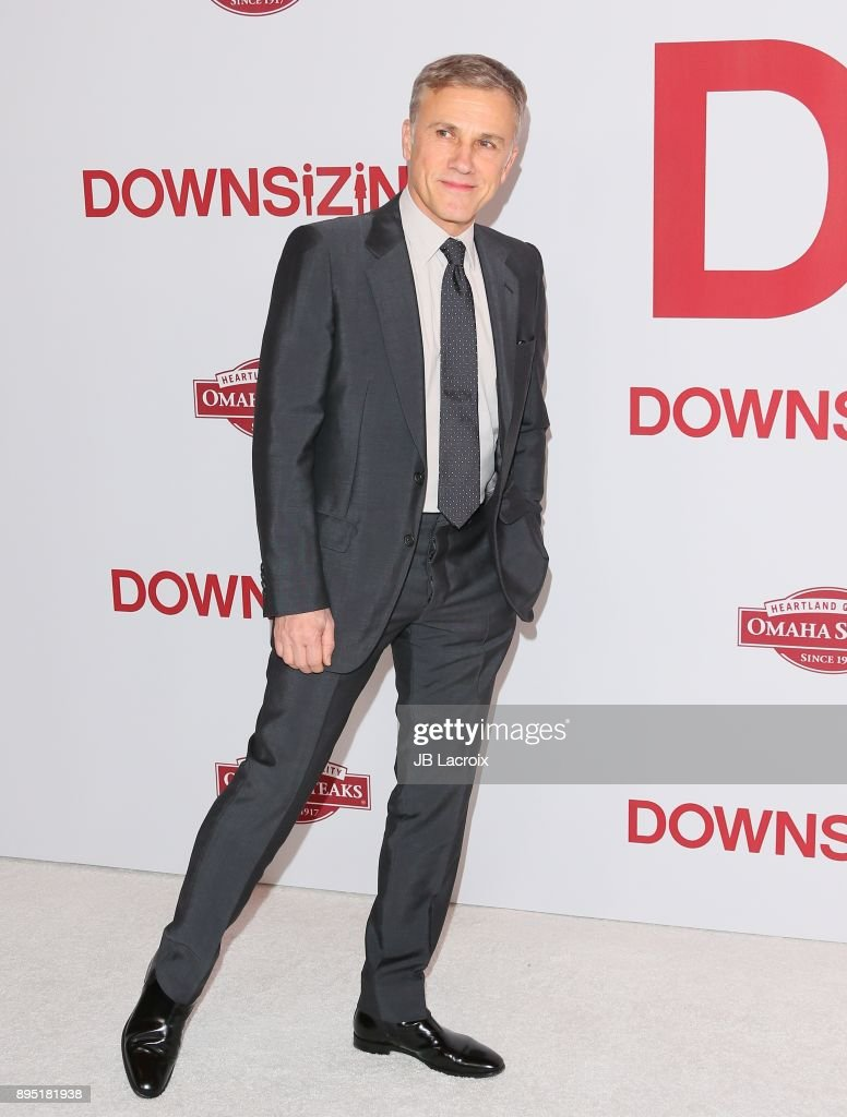 Christoph Waltz attends the premiere of Paramount Pictures special screening of 'Downsizing' on December 18, 2017 in Los Angeles, California.