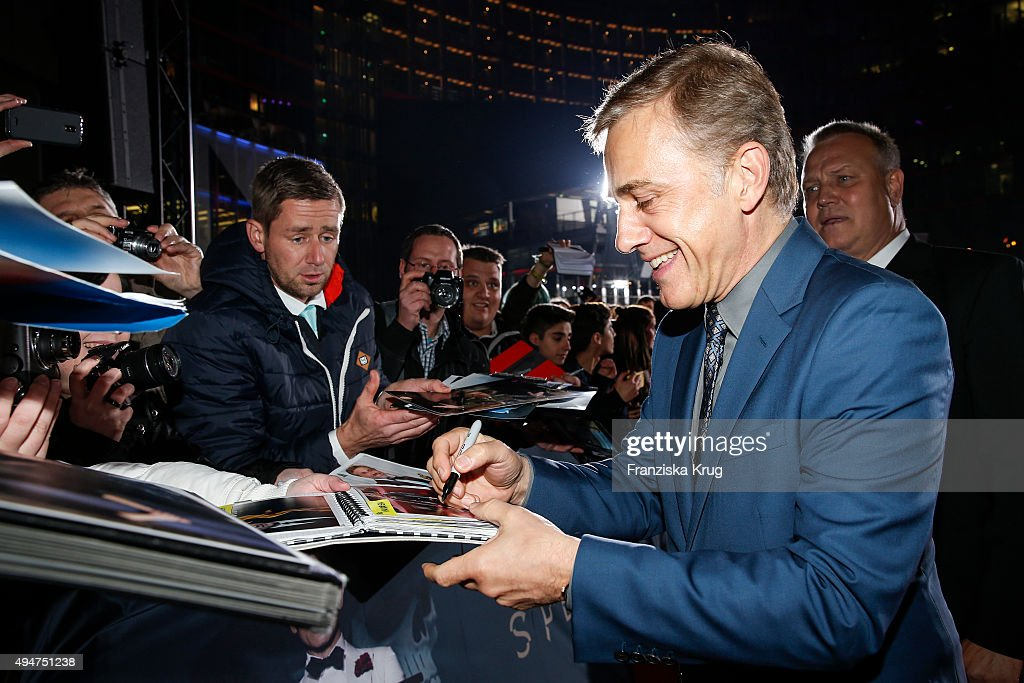 Christoph Waltz attends the Spectre' German Premiere on October 28, 2015 in Berlin, Germany.