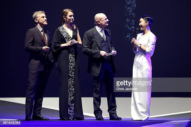 Christoph Waltz Emily Blunt IWC Schaffhausen CEO George Kern and Zhou Xun attend the IWC Gala Dinner during the Salon International de la Haute...