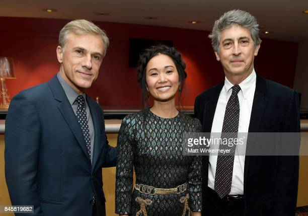 Christoph Waltz Hong Chau and Alexander Payne attend the 'Downsizing' special presentation screening during the 2017 Toronto International Film...