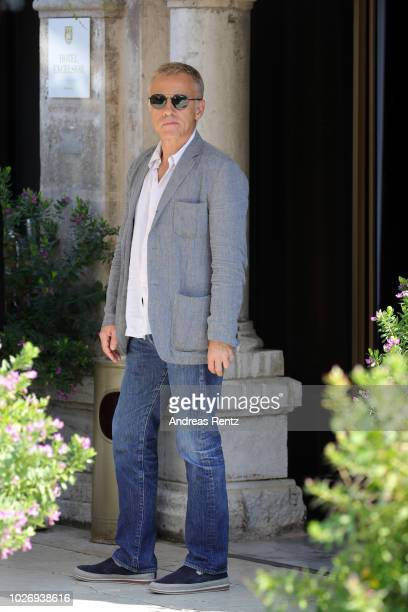 Christoph Waltz is seen during the 75th Venice Film Festival on September 5 2018 in Venice Italy