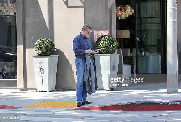 Christoph Waltz is seen in Los Angeles on March 23 2015 in Los Angeles California