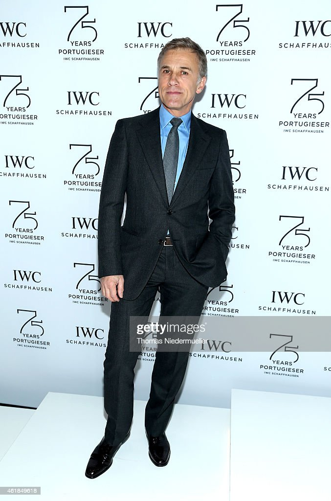 Christoph Waltz visits the IWC booth during the Salon International de la Haute Horlogerie (SIHH) 2015 at the Palexpo on January 20, 2015 in Geneva, Switzerland.
