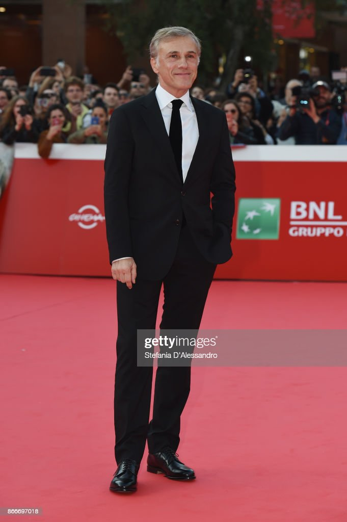 Christoph Waltz walks a red carpet during the 12th Rome Film Fest at Auditorium Parco Della Musica on October 26, 2017 in Rome, Italy.