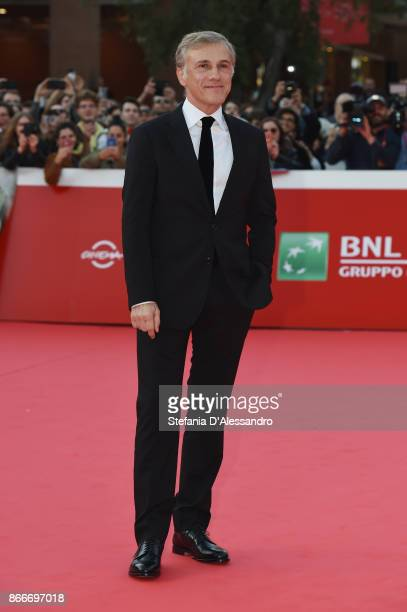Christoph Waltz walks a red carpet during the 12th Rome Film Fest at Auditorium Parco Della Musica on October 26 2017 in Rome Italy