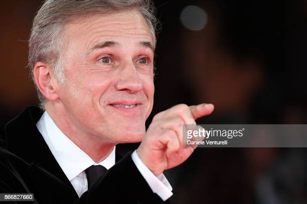 Christoph Waltz walks a red carpet for Hostiles during the 12th Rome Film Fest at Auditorium Parco Della Musica on October 26 2017 in Rome Italy
