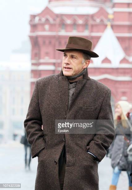 Christoph Waltz walks in Red Square on December 8 2010 in Moscow
