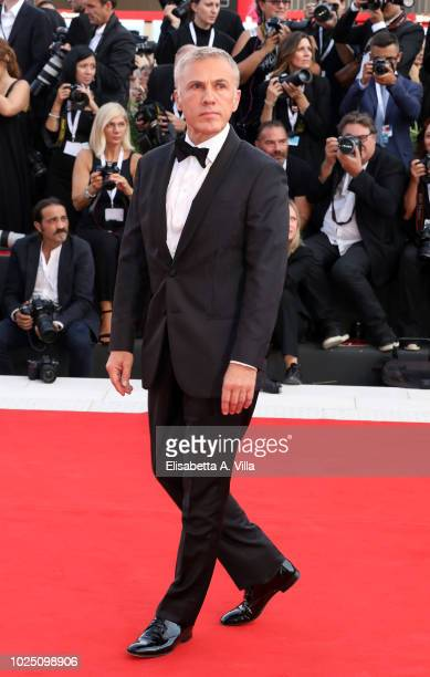 Christoph Waltz walks the red carpet ahead of the opening ceremony and the 'First Man' screening during the 75th Venice Film Festival at Sala Grande...