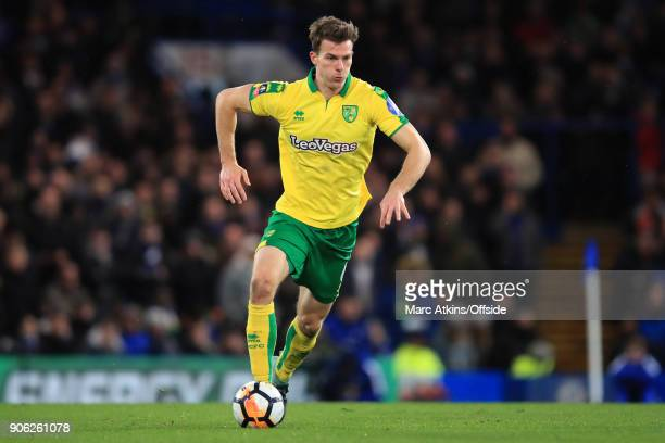 Christoph Zimmermann of Norwich City during the Emirates FA Cup Third Round Replay match between Chelsea and Norwich City at Stamford Bridge on...