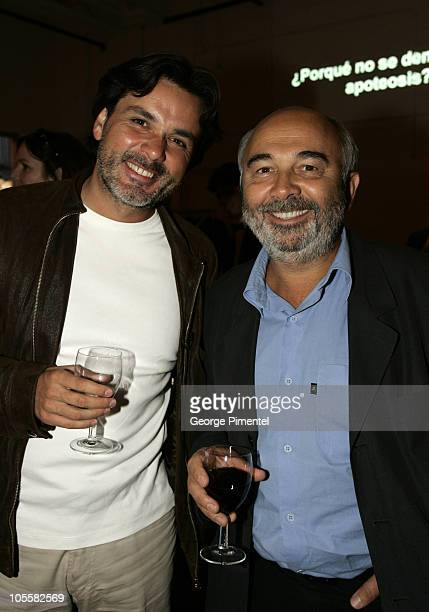 Christophe Barratier and Gerard Jugnot during World Film Festival Unifrance Reception at SAT in Montreal Quebec Canada