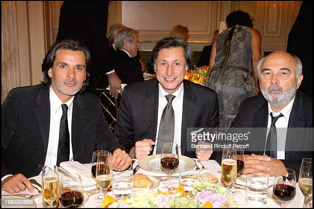 Christophe Barratier Patrick of Carolis and Gerard Jugnot at Premiere Of Film 'Faubourg 36' At Ugc Normandie In Benefit Of Claude Pompidou Foundation