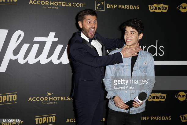 Christophe Beaugrand and Youtuber Sulivan attends the '4th Melty Future Awards' at Le Grand Rex on February 6 2017 in Paris France