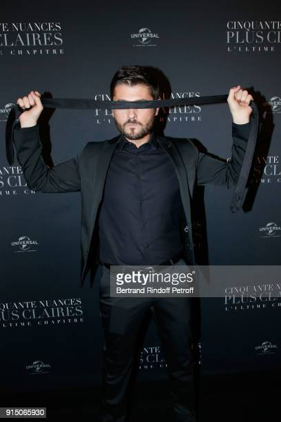 Christophe Beaugrand who plays a scene from the movie attends the Fifty Shades Freed 50 Nuances Plus Clair Paris Premiere at Salle Pleyel on February...