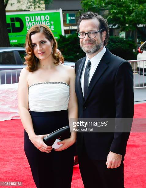 """Christophe Beck and guest attend the """"Free Guy"""" New York Premiere at AMC Lincoln Square Theater on August 3, 2021 in New York City."""