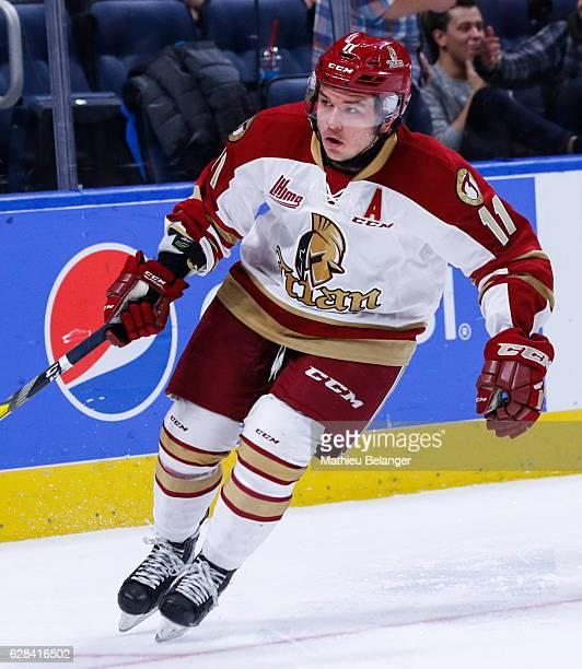 Christophe Boivin of the Acadie-Bathurst Titan skates during his QMJHL hockey game at the Centre Videotron on November 9, 2016 in Quebec City,...