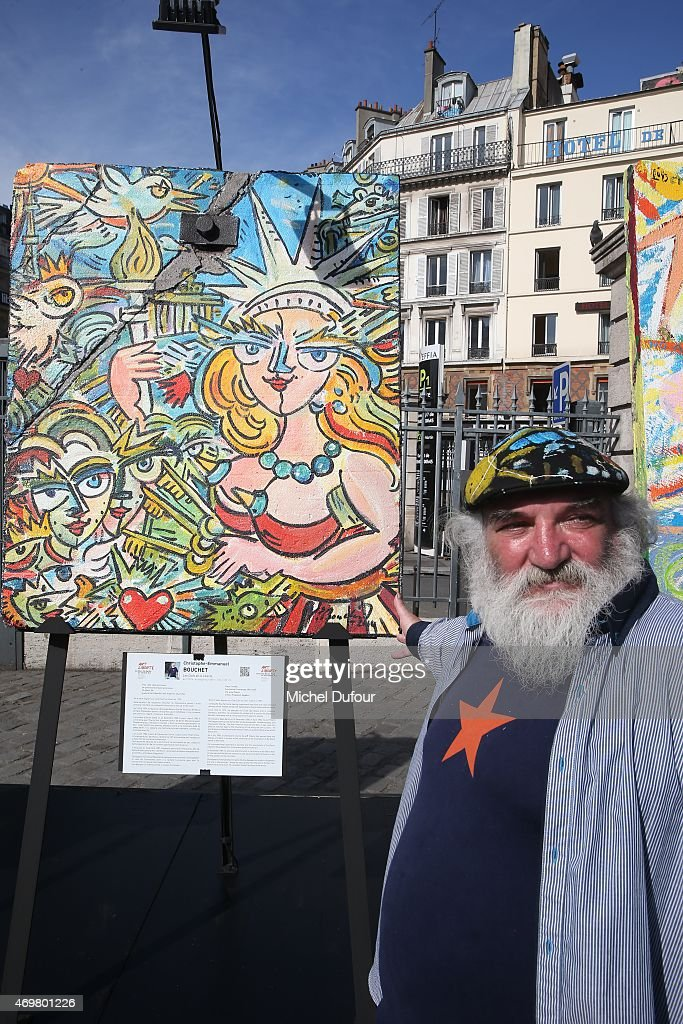 Christophe Boucher attends the 'Art Liberte' Exhibition At Gare De L'Est on April 15, 2015 in Paris, France.