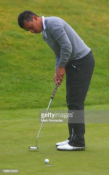 Christophe Brazillier of France putting on the 11th green during Day Two of the Madeira Islands Open Portugal BPI at Club de Golf do Santo da Serra...