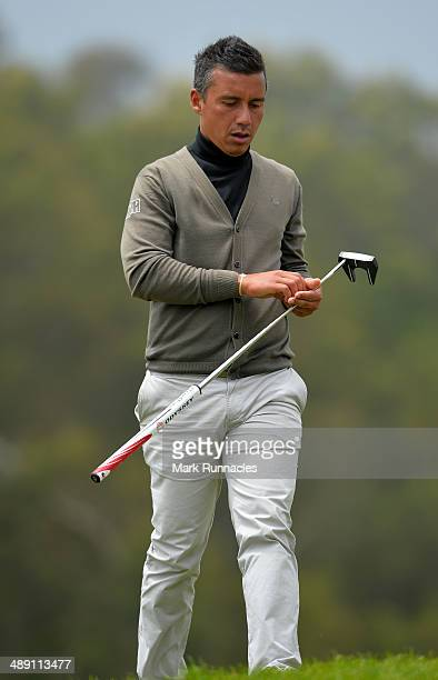 Christophe Brazillier of France walks from the 16th green during the Madeira Islands Open - Portugal - BPI at Club de Golf do Santo da Serra on May...