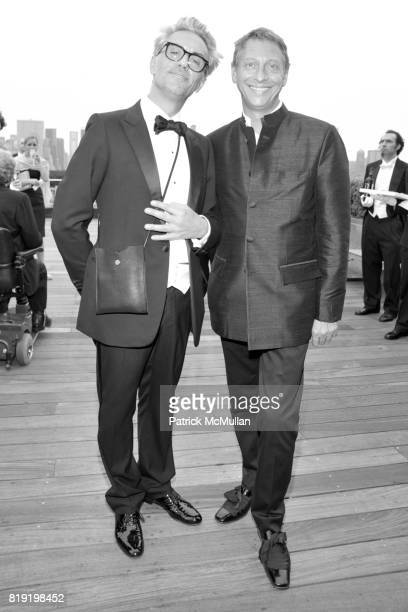 Christophe Carrere and Jacques Babando attend HAUT BRION 75th Anniversary at The Metropolitan Museum of Art on July 12 2010 in New York City