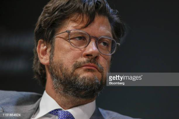 Christophe Charlier chairman of Renaissance Capital Holdings Ltd pauses during the Emerging Frontier Forum 2019 at Bloomberg's European headquarters...