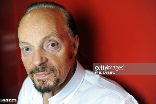 Christophe CHEYNIER A picture taken on November 3 2015 shows French musician and singer Alan Stivell posing in SaintBrieuc western of France Alan...