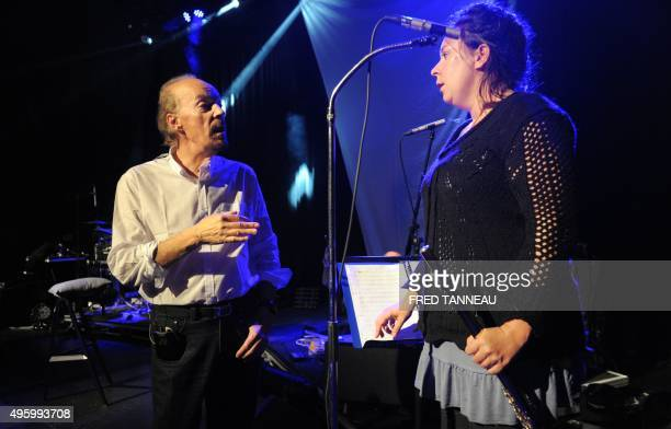 Christophe CHEYNIER A picture taken on November 3 2015 shows French musician and singer Alan Stivell rehearsing in SaintBrieuc western of France Alan...