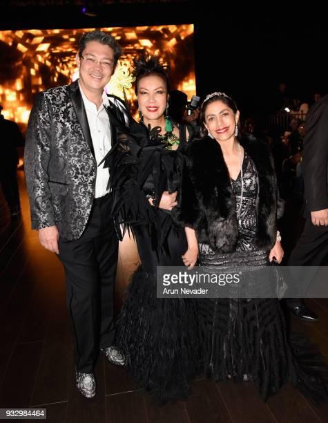 Christophe Choo Sue Wong and Gabrielle Choo attend Los Angeles Fashion Week Powered by Art Hearts Fashion LAFW FW/18 10th Season Anniversary...
