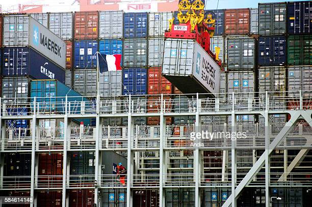 Christophe Colomb first sortie the largest vessel of the fleet It's one of the largest container ships in the world 365 metres long it has a capacity...